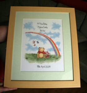 Winnie-the-pooh Birth Sampler