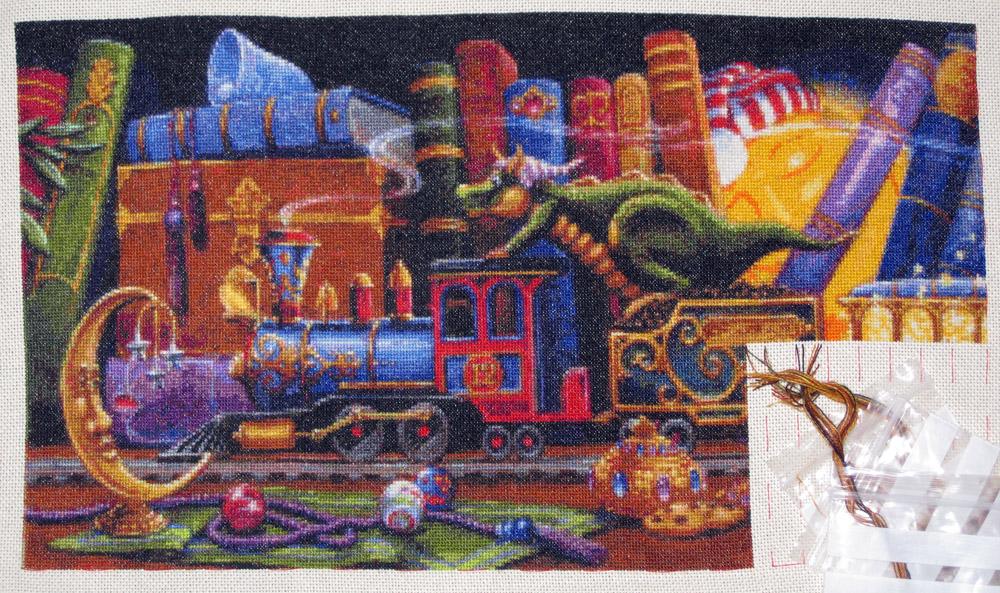 Вышивка поезд мечты схема 7