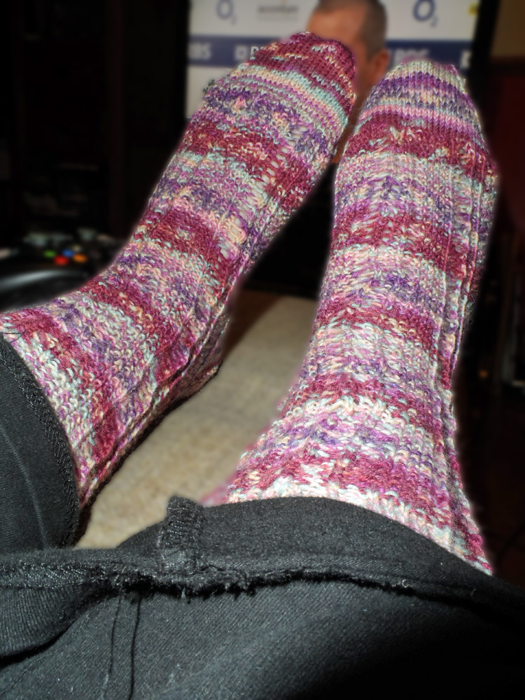 First pair of finished socks