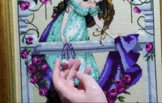 End of June 17 Video Cross Stitch Progress Update