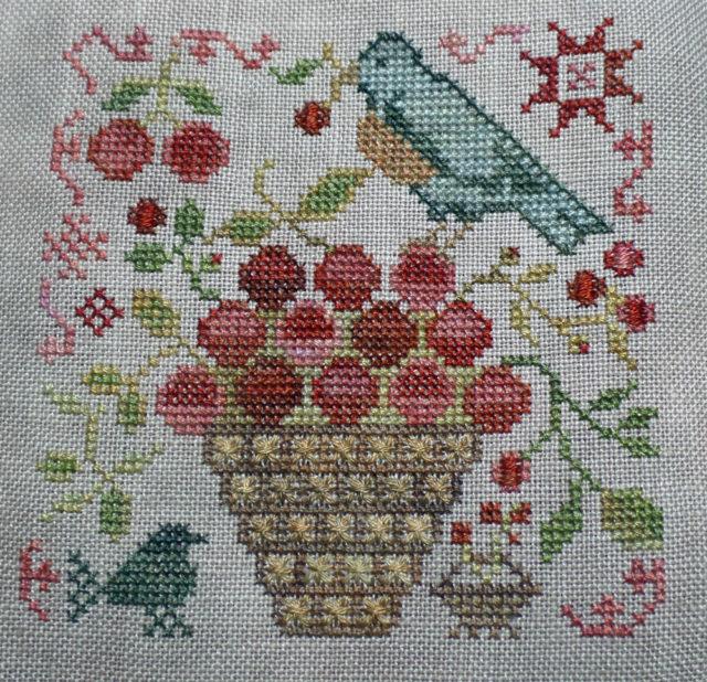 Basket of Cherries - garden club series