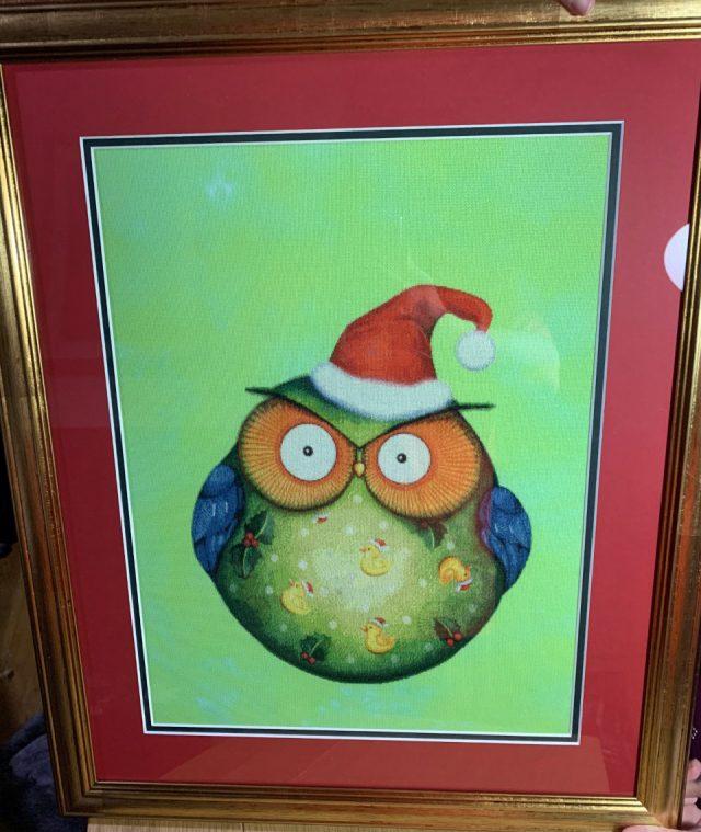 santa-owl-framed